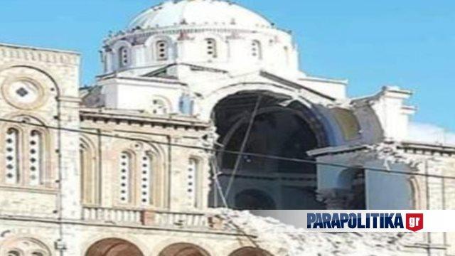Σεισμός Σάμος: Μεγάλες ζημιές σε εκκλησία στο Καρλόβασι (Εικόνες)