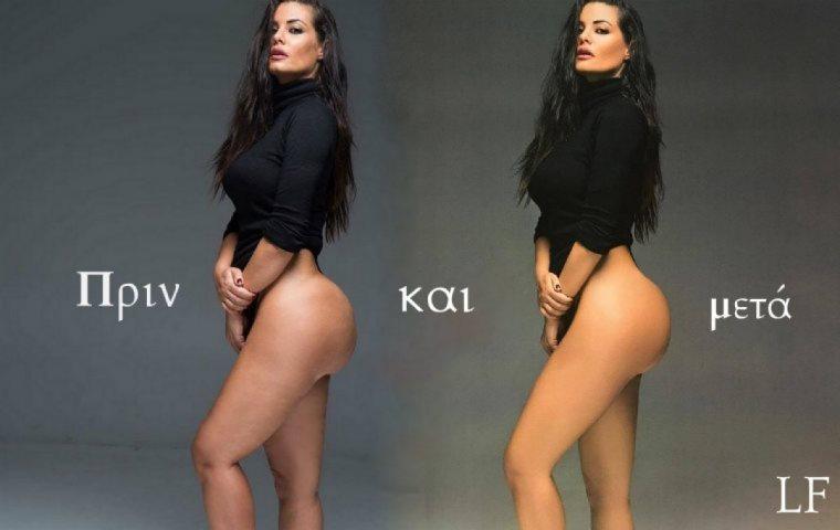 Γυμνό μοντέλο πόζα